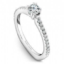 18k White Gold Diamond Ring  S001-01WS - KLARITY LONDON