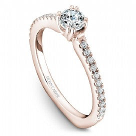 18k Rose Gold Diamond Ring  S001-01RS - KLARITY LONDON