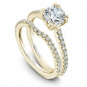 18k Yellow Gold Diamond Ring S001-01YS - KLARITY LONDON