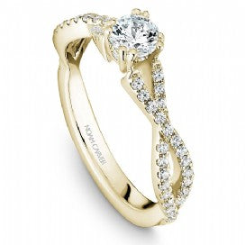 18k Yellow Gold Twist Style Diamond Ring S004-03YS - KLARITY LONDON
