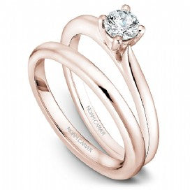 18k Rose Gold Solitaire Diamond Ring S018-01RA - KLARITY LONDON