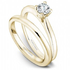 18k Yellow Gold Solitaire Diamond Ring S018-01YA - KLARITY LONDON