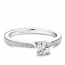 18k White Gold Pave Set Diamond Ring  S018-02A - KLARITY LONDON
