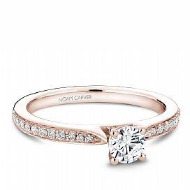 18k Rose Gold Pave Set Diamond Ring S018-02RA - KLARITY LONDON