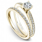 18k Yellow Gold Pave Set Diamond Ring S018-02YA - KLARITY LONDON