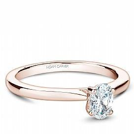 18k Rose Gold Oval Solitaire Diamond Ring S018-03RA - KLARITY LONDON