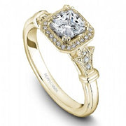 18k Yellow Gold Princess Art Deco Diamond Ring  S070-01YA - KLARITY LONDON
