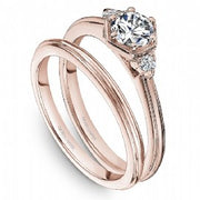 18k Rose Gold Art Deco Style Diamond Ring S225-01RA - KLARITY LONDON