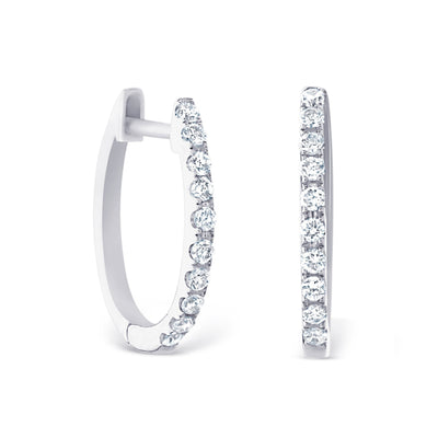 Petite White Gold Hoops £700 - KLARITY LONDON
