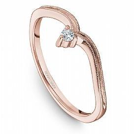 18k Rose Gold Art Deco Style Diamond Band STA10-1R - KLARITY LONDON