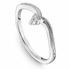 18k White Gold Art Deco Style Diamond Band STA10-1WM - KLARITY LONDON