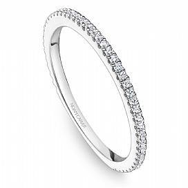 18k White Gold Classic Style Diamond Band STA14-1W - KLARITY LONDON