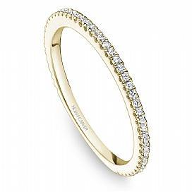 18k Yellow Gold Classic Style Diamond Band STA14-1Y - KLARITY LONDON