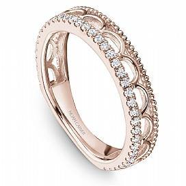 18k Rose Gold Style Diamond Band STA15-1R - KLARITY LONDON