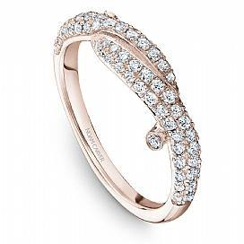 18k Rose Gold Style Diamond Band STA16-1R - KLARITY LONDON