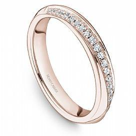 18k Rose Gold Pave Diamond Band STA19-1R - KLARITY LONDON