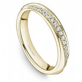 18k Yellow Gold Pave Diamond Band STA19-1Y - KLARITY LONDON
