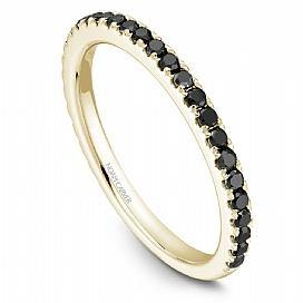 18k Yellow Gold Black Diamond Band STA2-1YS-BD - KLARITY LONDON