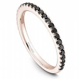 18k Rose Gold Black Diamond Band STA2-1RM-BD - KLARITY LONDON