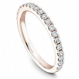 18k Rose Gold Diamond Band STA3-1RM-D - KLARITY LONDON