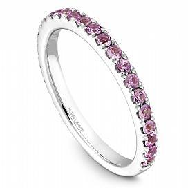 18k White Gold Pink Sapphire Band STA3-1WS-P - KLARITY LONDON