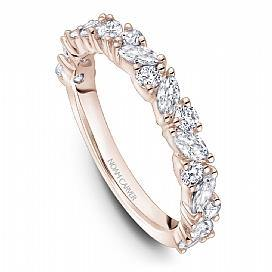 18k Rose Gold Round & Marquise Style Band STA46-1RM - KLARITY LONDON