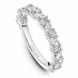 18k White Gold Round & Marquise Style Band STA46-1WS - KLARITY LONDON