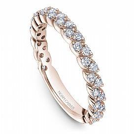 18k Rose Gold Marquise Style Band STA47-1RS - KLARITY LONDON