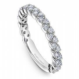18k White Gold Marquise Style Band STA47-1WM - KLARITY LONDON