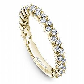 18k Yellow Gold Marquise Style Band STA47-1YS - KLARITY LONDON