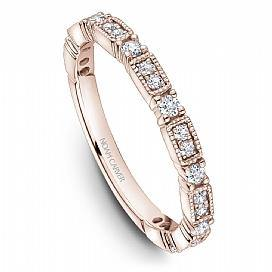 18k Rose Gold Vintage Style Band STA49-1RS - KLARITY LONDON