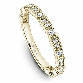18k Yellow Gold Vintage Style Band STA49-1YS - KLARITY LONDON
