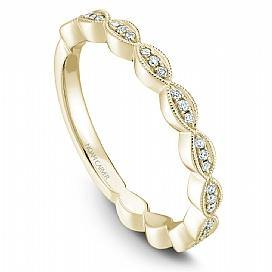 18k Yellow Gold Vintage Diamond Band STA6-1YS-D - KLARITY LONDON
