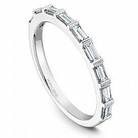 18k White Gold Baguette Diamond Band STA7-1WS-D - KLARITY LONDON