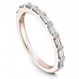 18k Rose Gold Baguette Diamond Band STA7-1RS-D - KLARITY LONDON
