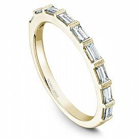 18k Yellow Gold Baguette Diamond Band STA7-1YS-D - KLARITY LONDON