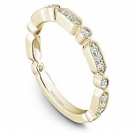 18k Yellow Gold Vintage Style Diamond Band STB15-1YS-D - KLARITY LONDON