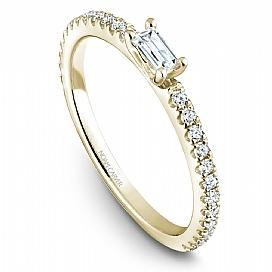 18k Yellow Gold Baguette 11 Diamond Band STB16-1YS-D - KLARITY LONDON
