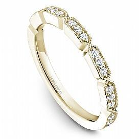 18k Yellow Gold Vintage Style Diamond Band STB19-1YS-D - KLARITY LONDON