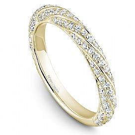 18k Yellow Gold Swirl Style Diamond Band STB23-1YS-D - KLARITY LONDON