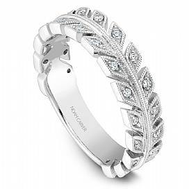 18k White Gold Modern Style Diamond Band STB3-1WS-D - KLARITY LONDON