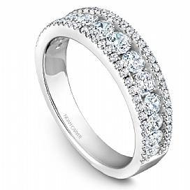 18k White Gold Modern Style Diamond Band STB33-1WS-D - KLARITY LONDON