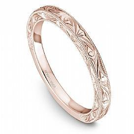 18k Rose Gold Vintage Inspired Band STC1-3RSE - KLARITY LONDON