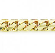 9MM YELLOW GOLD MIAMI CUBAN LINK CURB CHAIN FOR MEN 10K 22-40IN - KLARITY LONDON