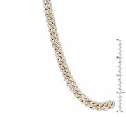 LUXURMAN MENS NECKLACES 10K GOLD MIAMI CUBAN LINK CHAIN WITH DIAMONDS 23CT - KLARITY LONDON