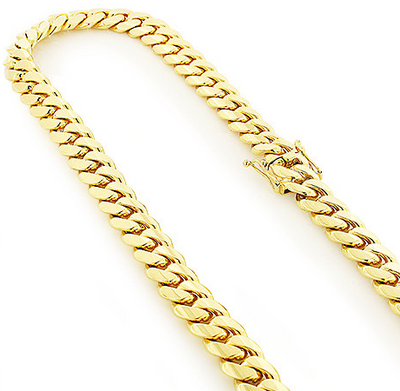 18k 14MM YELLOW GOLD MIAMI CUBAN LINK CURB CHAIN FOR MEN 24IN - KLARITY LONDON