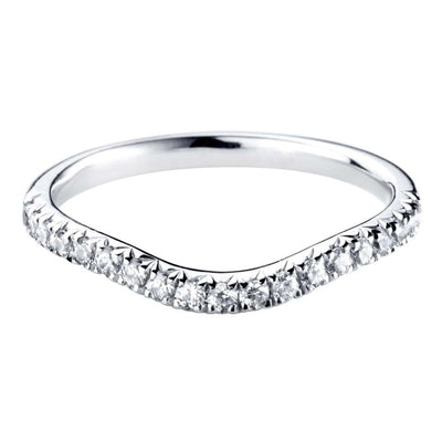Curved Diamond Set Band 2mm