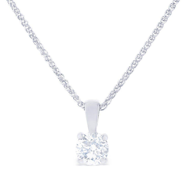 Solitaire Bale Diamond Pendant
