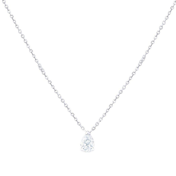 Solitaire Pear Diamond Pendant