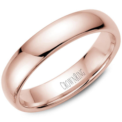 18K ROSE GOLD CLASSIC COURT SHAPE PLAIN BAND - KLARITY LONDON